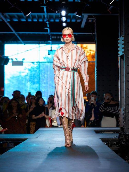 Striped cotton shirtdress by Diane Von Furstenberg