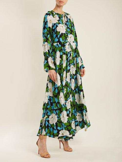 Bethany floral-print silk dress by Diane Von Furstenberg