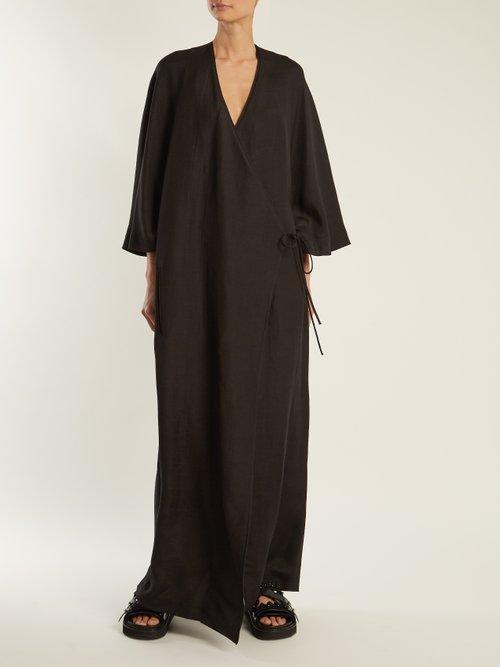 Grosgrain kimono dress by Raey