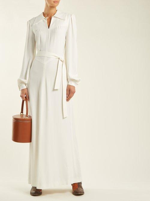 Shop Bella Freud Karianne crepe dress online sale