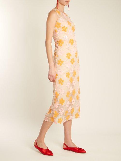 Embellished-tulle sleeveless dress by Simone Rocha