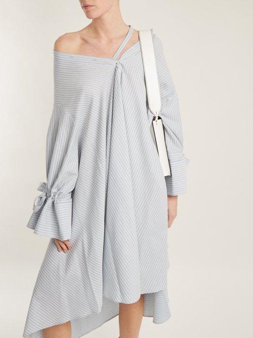 Shop Palmer/Harding Jasmin off-shoulder striped cotton dress online sale