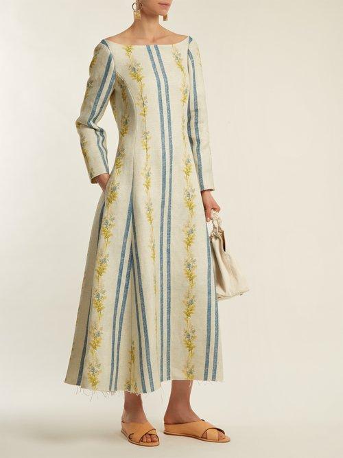 Shop Brock Collection Dillan floral-print linen dress online sale