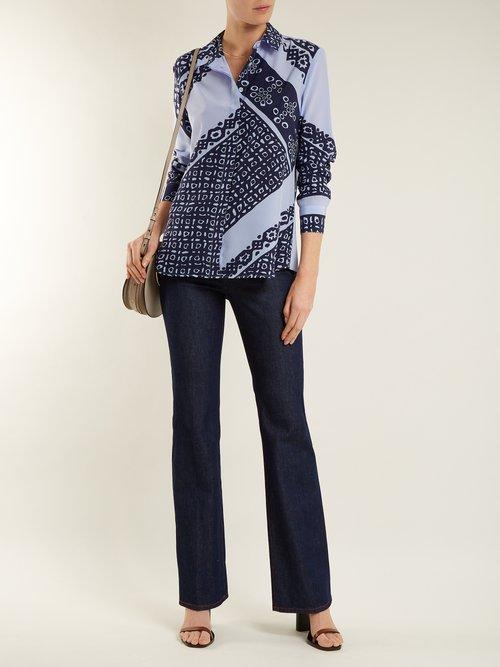 Chika Bandana-print silk shirt by Altuzarra