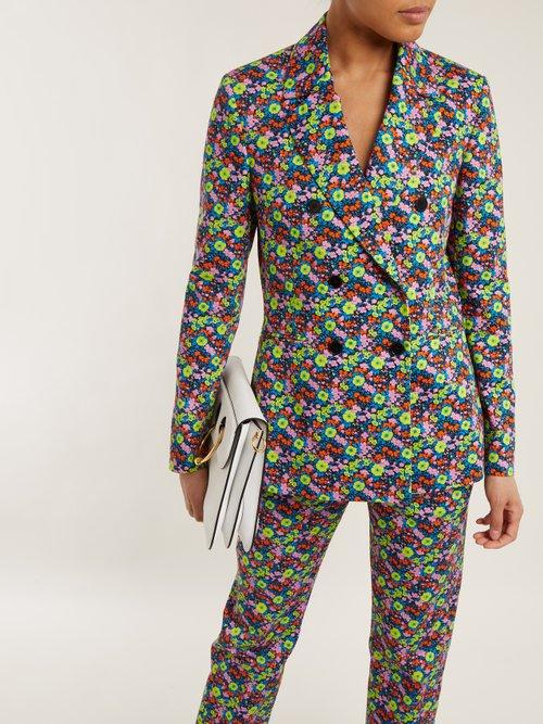 Floral Print Cotton Twill Blazer by MSGM