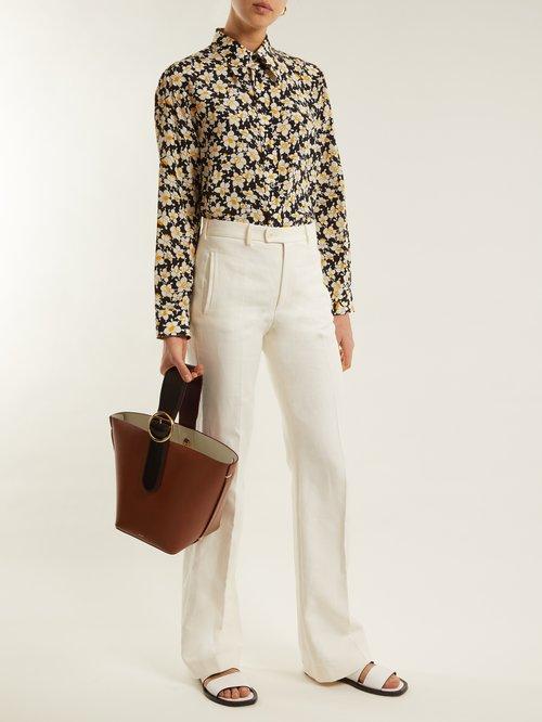 Morison floral-print silk-crepe shirt by Joseph