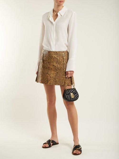 Drew Bijou Nano leather cross-body bag by