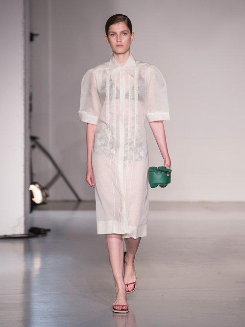 Molly cotton-organza ruffle dress by Joseph