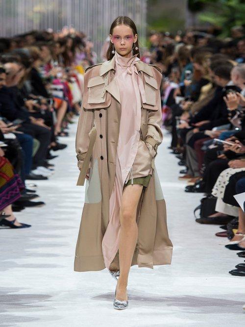 Multi Pocket Satin Trench Coat by Valentino