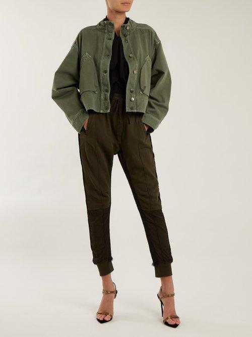 Patch-pocket denim cropped jacket by Valentino