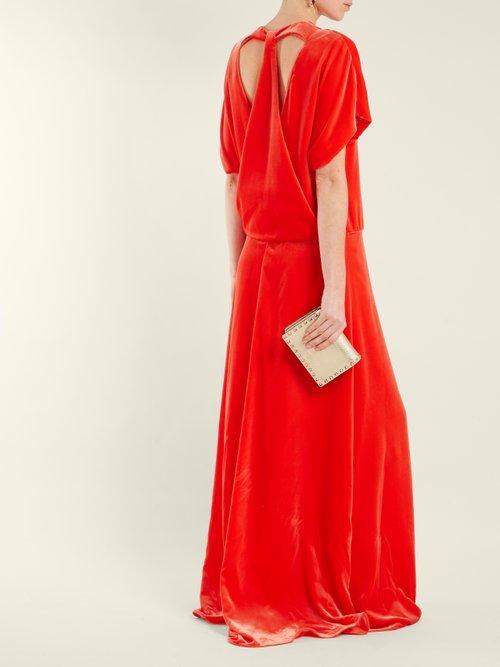 Round Neck Velvet Gown by Valentino