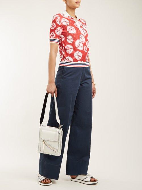 Geometric-intarsia short-sleeved sweater by Stella Jean