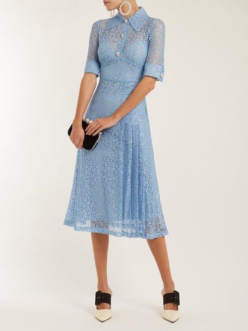 Sable nurse floral-lace dress by Alessandra Rich