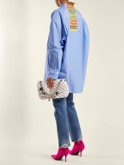 BB Round M Leather bag by Balenciaga