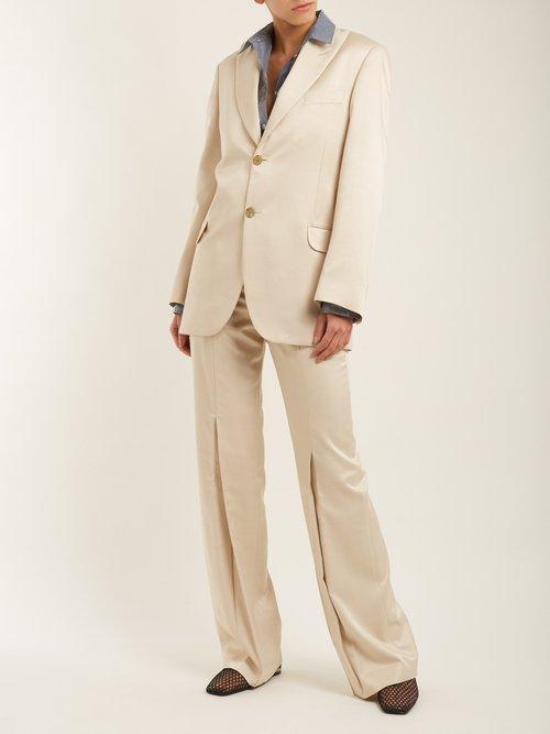 Jaria oversized satin-twill blazer by Acne Studios