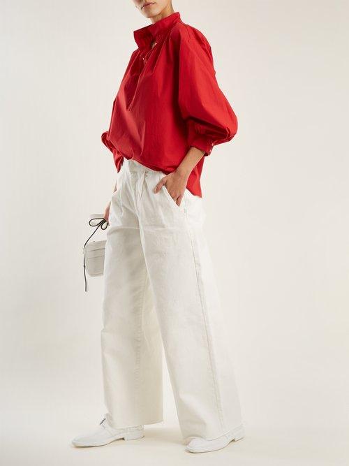 Claira balloon-sleeved cotton blouse by Nili Lotan