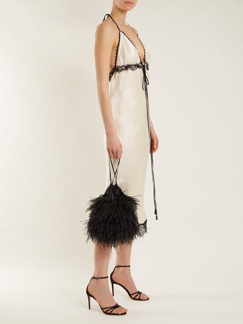 Toya Lace Trimmed Silk Slip Dress by Johanna Ortiz