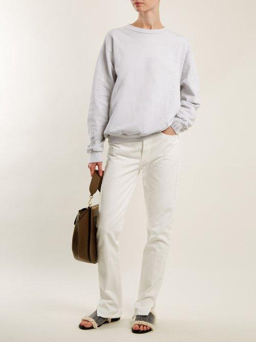 Round-neck cotton-jersey sweatshirt by Audrey Louise Reynolds