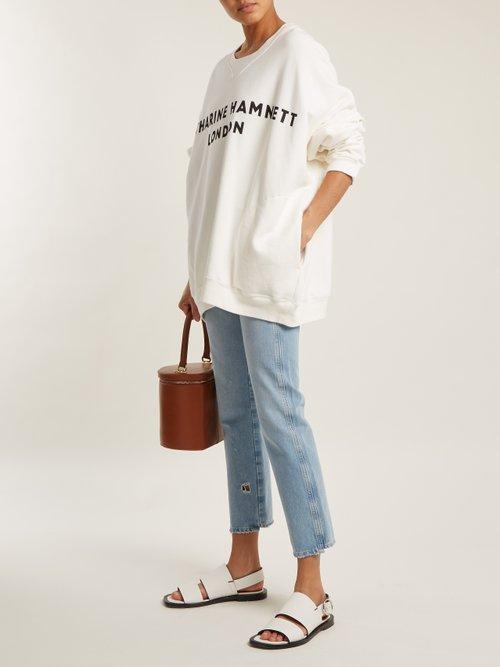 Vince logo-print cotton sweatshirt by Katharine Hamnett London