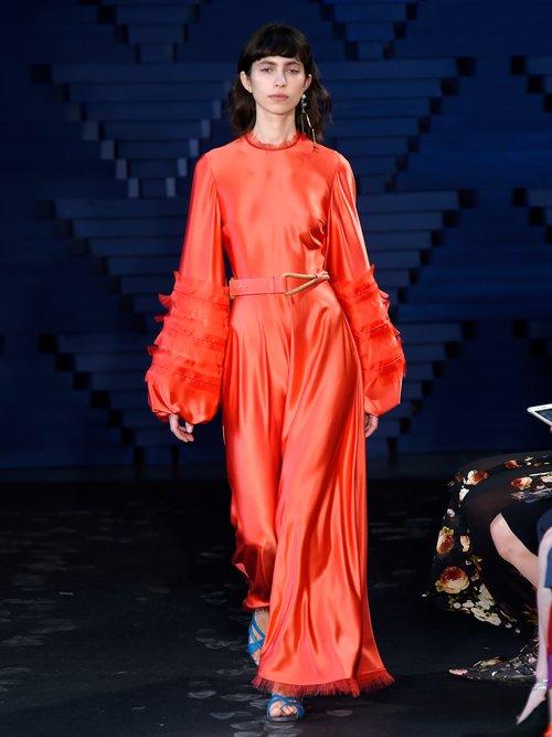 Kamau silk dress by Roksanda