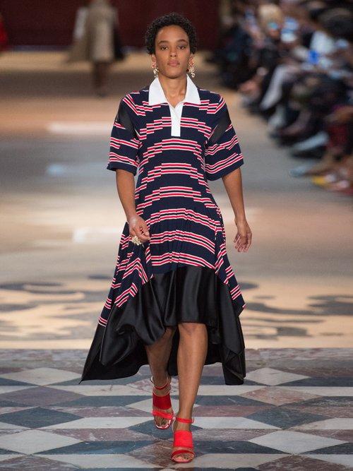Shop  Striped handkerchief-hem dress online sale