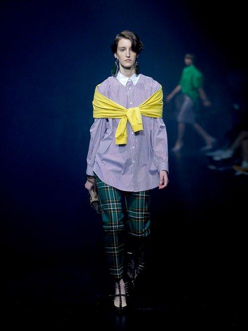 Photo of Contrast-collar sweatshirt detail shirt by Balenciaga - shop Balenciaga tops and blouses online sales