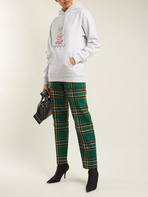Logo-print cotton-blend sweatshirt by Balenciaga