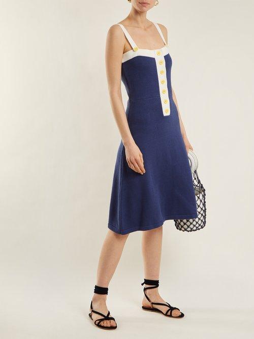 Captain cotton-blend dress by Staud