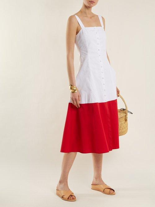 Dusk cotton-blend dress by Staud