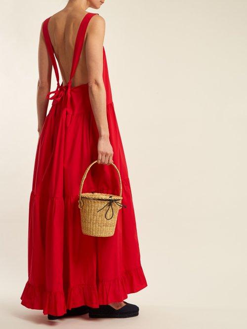 Davis cotton-poplin maxi-dress by Lee Mathews