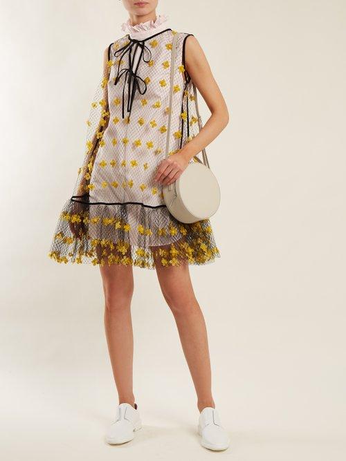 Netti frilled-neckline cotton dress by Cecilie Bahnsen