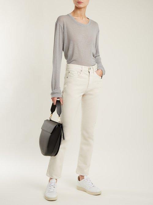 Marlon round-neck cashmere and silk-blend T-shirt by Frances De Lourdes