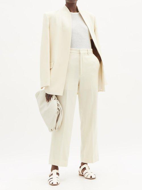 Photo of Martin round-neck cashmere and silk-blend T-shirt by Frances De Lourdes - shop Frances De Lourdes tops and blouses online sales