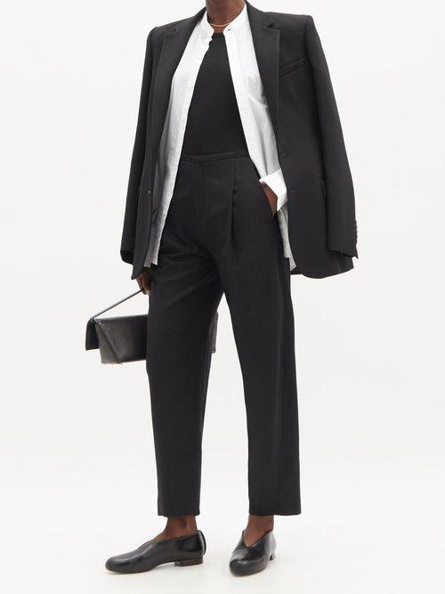 Martin round-neck cashmere and silk-blend T-shirt by Frances De Lourdes
