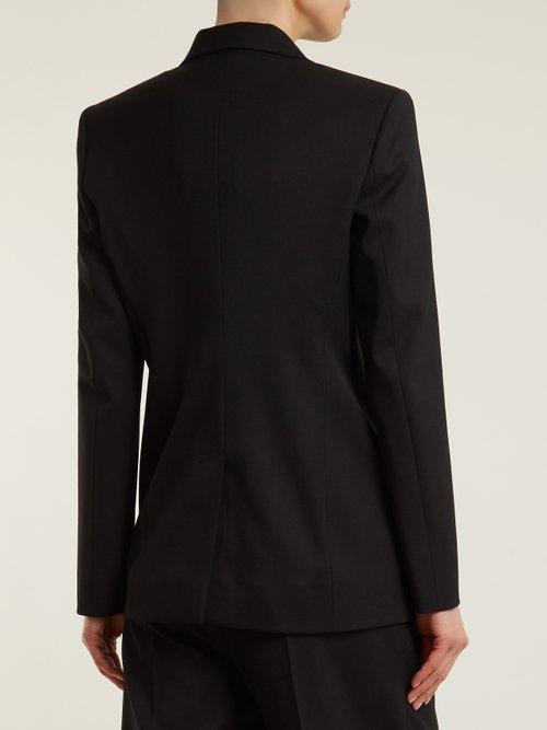 Photo of Notch-lapel single-breasted wool blazer by Kwaidan Editions - shop Kwaidan Editions jackets and coats sales
