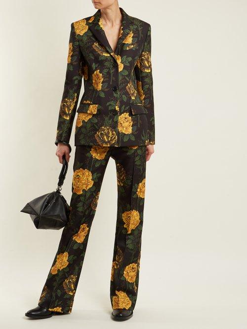 Ruscha floral-print single-breasted jacket by Kwaidan Editions