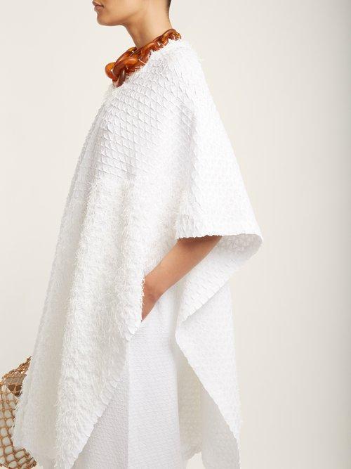 Retrospect 2 fringe-embellished pleated kaftan by Issey Miyake