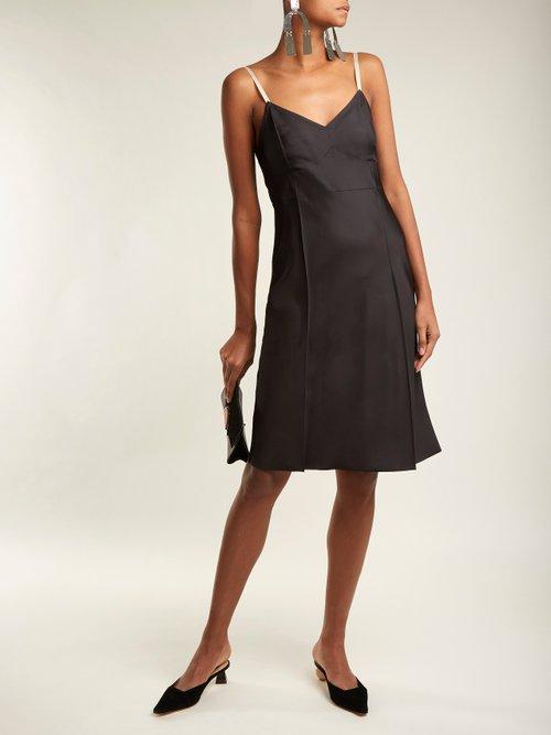V Neck Satin Slip Dress by Helmut Lang