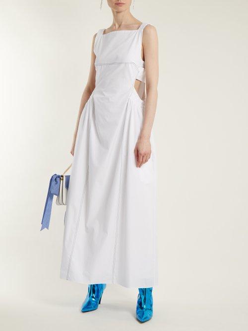 Celestial cotton cut-out dress by Ellery