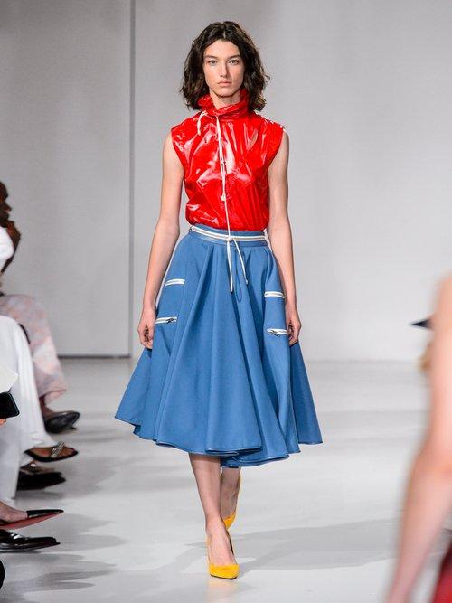 Drawstring high-neck sleeveless top by Calvin Klein 205W39Nyc