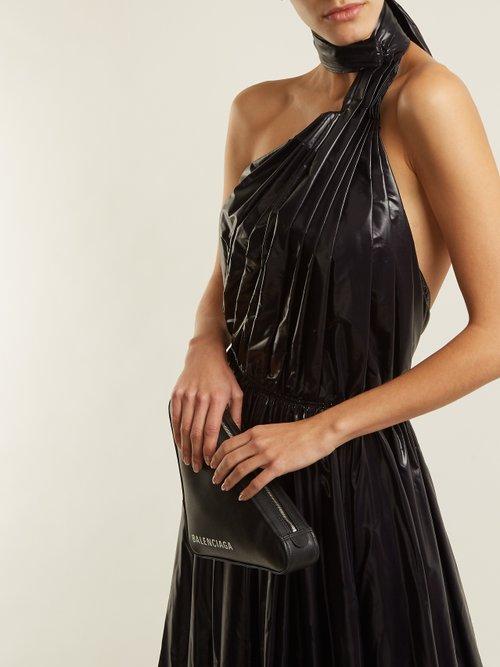 Tie Neck Nylon A Line Dress by Calvin Klein 205W39Nyc