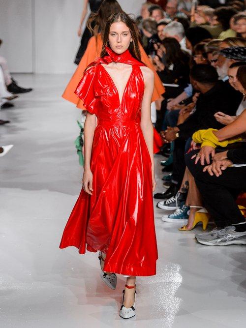 Tie Neck A Line Dress by Calvin Klein 205W39Nyc