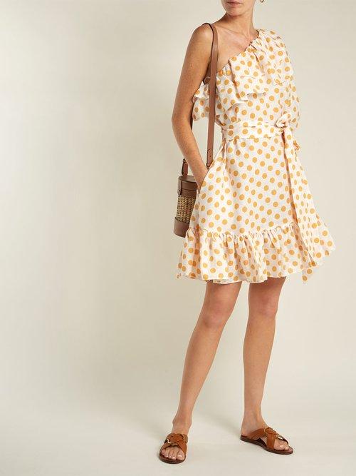 Arden ruffled linen mini dress by Lisa Marie Fernandez
