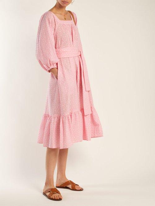Shop Lisa Marie Fernandez Laure broderie-anglaise cotton dress online sale