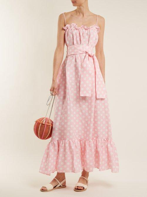 Liz Linen Maxi Dress by Lisa Marie Fernandez