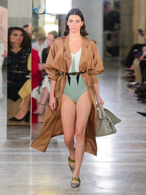 Tie Waist Silk Blend Taffeta Trench Coat by Bottega Veneta