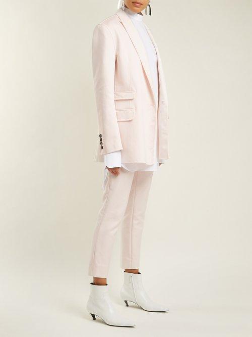 Oversized peak-lapel jacket by Summa