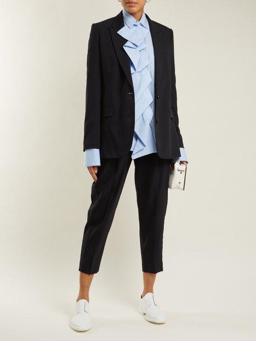 Single-breasted wool-blend jacket by Summa