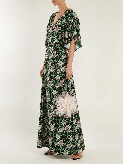 Beverly V-neck floral-print dress by Dodo Bar Or