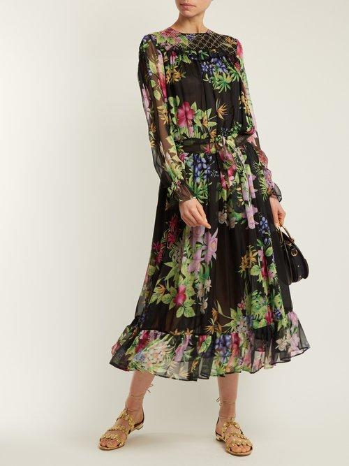 Vitti floral-print embellished dress by Dodo Bar Or